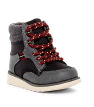OshKosh Hunter Boots Grey Gray Shoes Boys 6 8 Casual Play Fashion Lace U... - $36.36