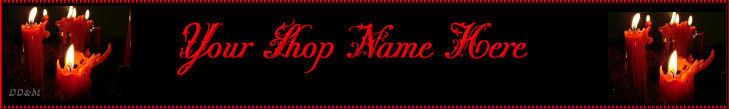 Web Banner Holiday Candles Custom Designed   60a