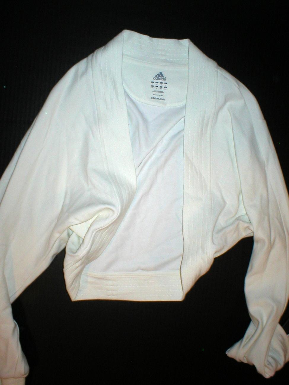 NWT Womens Adidas shrug ivory white Medium jacket M
