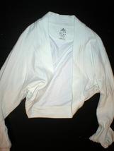 NWT Womens Adidas shrug ivory white Medium jacket M image 1