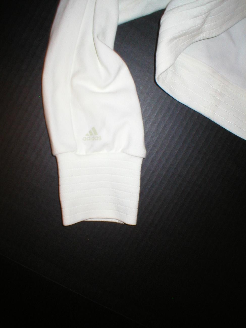 NWT Womens Adidas shrug ivory white Medium jacket M image 3