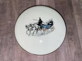 Limoges Trinket Box CH Field Haviland France France 1940s Carriage Horse... - $82.52
