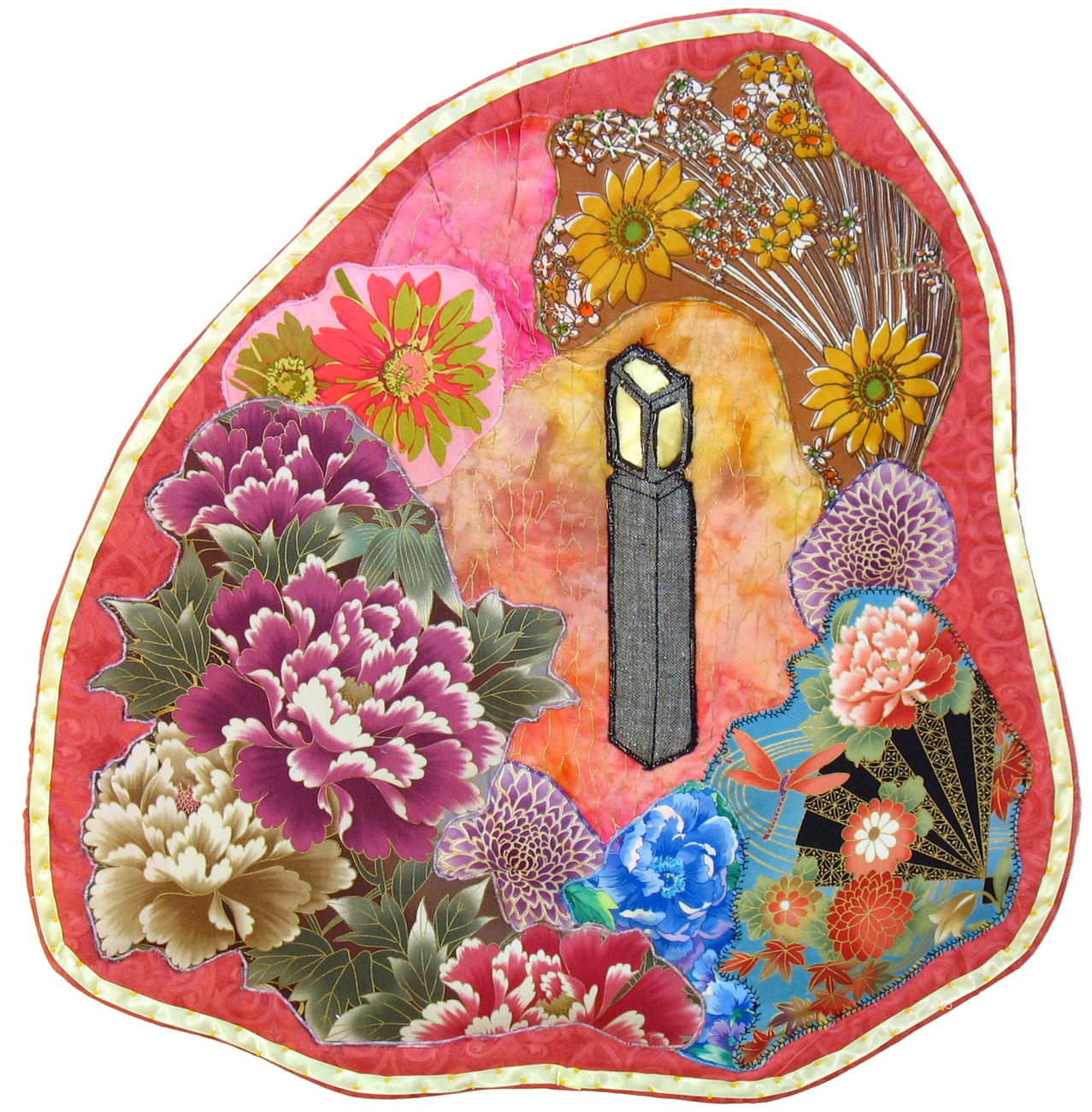 Primary image for Stone Lantern: Quilted Art Wall Hanging