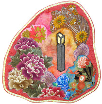 Stone Lantern: Quilted Art Wall Hanging - $400.00