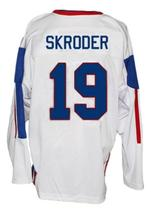 Per-Age Skroder #19 Team Norway Custom Hockey Jersey New Sewn White Any Size image 2