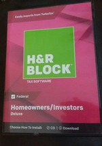 H&R Block Tax Software Deluxe 2018 Federal Only Homeowners/investor - $14.80