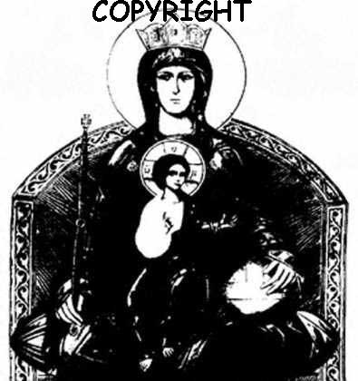 Mother of God New Mounted Rubber Stamp