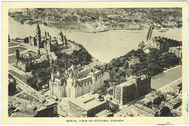 Vintage Postcard - Aerial View of Ottawa Canada image 1