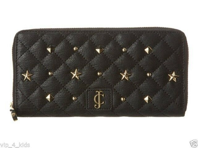 Primary image for JUICY COUTURE CONTINENTAL ZIP AROUND LEATHER WALLET holds Phones NEW $128