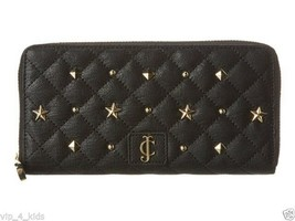 JUICY COUTURE CONTINENTAL ZIP AROUND LEATHER WALLET holds Phones NEW $128 - $69.29