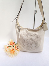 COACH Audrey Ivory/Cream Leather Crossbody Sling Shoulder Bag Style 1702... - $59.39