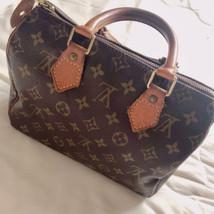 Auth Louis Vuitton Speedy Hand Bag Brown Monogram Medium Leather PVC LVB0068 - $416.79
