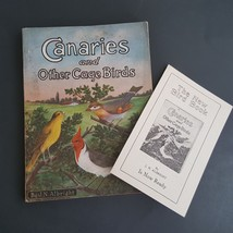 1927 antique CANARY & CAGE BIRDS w AD CARD illus bird cage sparrow parro... - $22.50