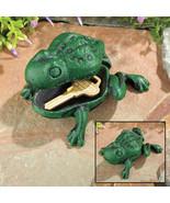 Cast Iron Frog Key Hider Garden Decoration - $12.65