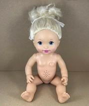 "Baby Alive 'Me Sick' Blonde Girl Doll Nude 14"" Works Mattel 2011 - $11.78"