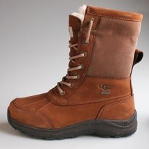 UGG Womens Chestnut Brown Leather Adirondack III Winter Snow Boots 1017430 NIB image 3