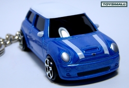 KEY CHAIN 2003~~2010 BLUE WHITE TOP BMW NEW MINI COOPER - $35.98