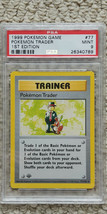 Pokemon Trader 77/102 1st Edition Base Set PSA 9 1999 Pokemon Game Shadowless - $69.99