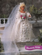 "4X Barbie 11-1/2"" Doll Victorian Bride Wedding Gown Cake Veil Crochet Pa... - $12.99"