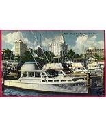MIAMI FLORIDA Fishing Fleet Pier 5 BEZO Ship FL Linen - $7.00