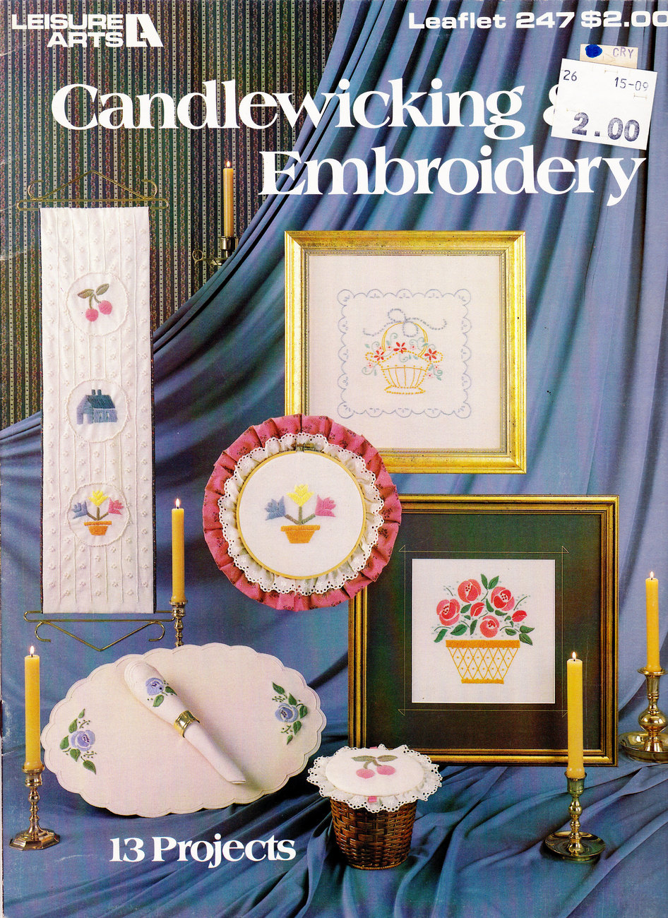 CANDLEWICKING EMBROIDERY LEISURE ARTS 247 13 PROJECTS image 3