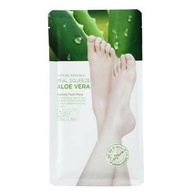 [ NATURE REPUBLIC ] Real Squeeze Aloe Vera Peeling Foot Mask (25g X 2ea)... - $7.62