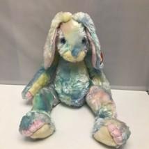 2001 Ty Buddy Classic Twitcher Tie Dye Pastel Rabbit Easter Bunny Plush 16″ - $39.99