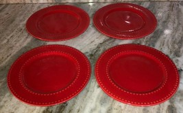 "Royal Norfolk 7 1/2"" Dessert Snack Plates Set Of 4-Red Christmas Valentines RARE - $49.38"