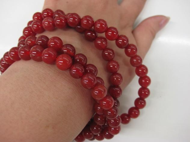Tibetan 108 Natural red Agate Meditation Prayer Beads