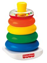 Fisher Price Brilliant Basics Rock-A-Stack Colorful Ring Development Toy Baby - $15.20