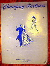 Changing Partners 1953 Sheet Music by Darion and Coleman Guitar and Ukulele - $2.50