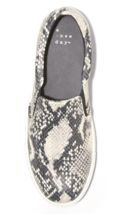 A New Day Women's Gray Faux Snakeskin Reese Memory Foam Insole Sneakers image 3
