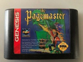 The Pagemaster (Sega Genesis, 1994) Tested, Authentic, FREE SHIPPING, US... - $9.53
