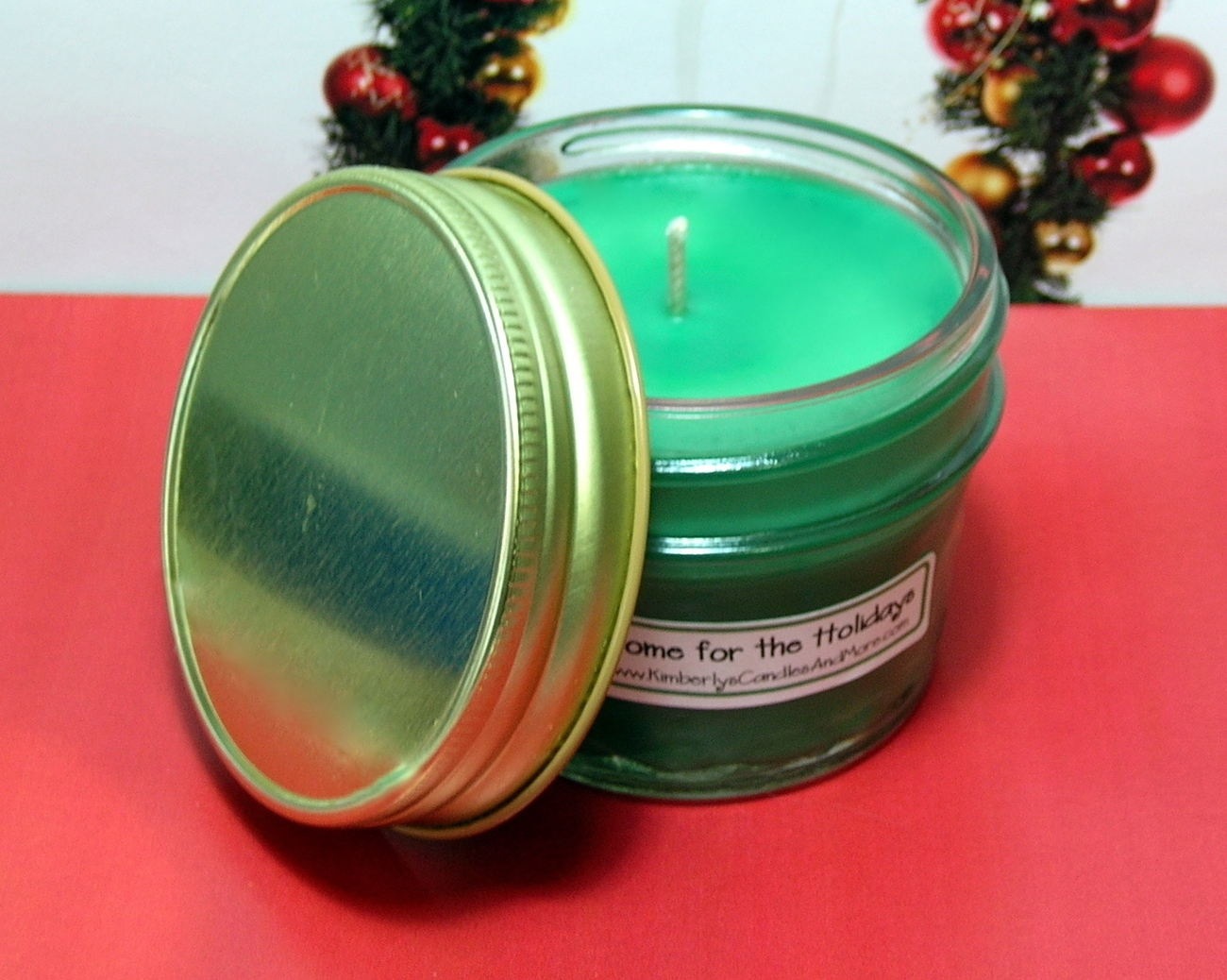 Home for the Holidays PURE SOY 4 oz. Jelly Jar Cand