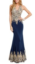 Long Prom Dresses Mermaid Formal Evening Party Gowns for Women Lace Rhinestones - $149.00