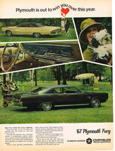 Vintage 1967 Magazine Ad Plymouth Sport Fury Under The Luxury Lightning - $5.93