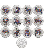 WR 12 Chinese Zodiac Lunar Year Silver Coin Complete Set  Animal Good Lu... - $27.00