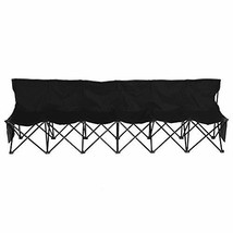 Yaheetech 6 Seats Portable Sideline Folding Bench Soccer Team Bleacher C... - $92.12