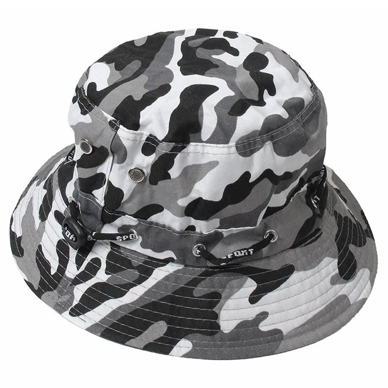 Primary image for Camouflage Pattern needle Brim Cotton Bucket Sun Cap Hat for Man