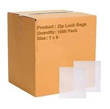 """1000 Pack Clear Low Density Poly Zip Lock Top Bags 7"""" x 9"""" 4 Mil - $116.57"""