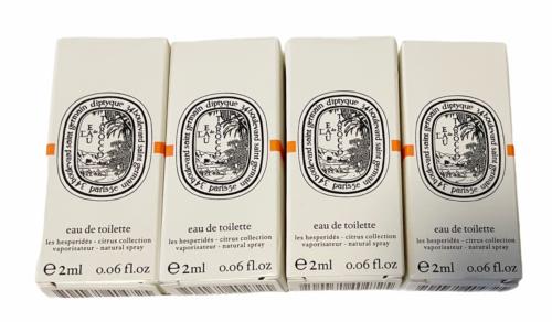 Lot of 4 DIPTYQUE L'EAU DES HESPERIDES EDT DELUXE SAMPLE 2 ml NEW IN BOX CITRUS