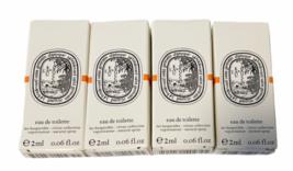 Lot of 4 DIPTYQUE L'EAU DES HESPERIDES EDT DELUXE SAMPLE 2 ml NEW IN BOX CITRUS image 1