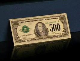 <MINT 1928 SERIES> GOLD $500 Rep.*Banknote W/COA~GREAT COLOR DETAIL~U.S SE - $11.82