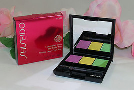 New Shiseido Luminizing Satin Eye Color Trio YE406 .1oz /3g  Purple Gree... - $25.99