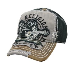 True Religion Men's Premium Vintage Distressed Buddha Trucker Hat Cap TR1101 image 2