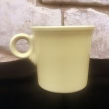 Fiesta Coffee Mug Yellow Ring Handle Contemporary Post 86 Homer Laughlin HLC - $11.99