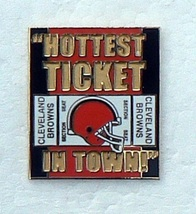 CLEVELAND BROWN free shipping HOT TICKET METAL FOOTBALL HAT CAP JERSEY PIN - $10.33