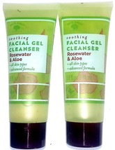 Soothing Facial Gel Cleanser Rosewater & Aloe 2.5 fl oz 75 ml (Set of 2 ... - $14.84