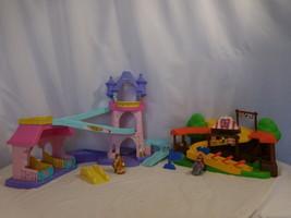 Little People Disney Princess Klip Klop Castle Stable + Mike The Knight Klip Klo - $48.53