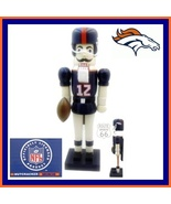 DENVER BRONCOS FULL SIZE FOOTBALL CHRISTMAS NUTCRACKER - $32.88